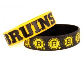 Silikonový náramek - Boston Bruins - 2 kusy -žluté