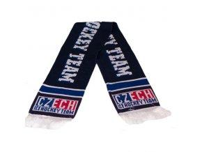 Šála pletená CZECH - modrá