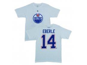 Tričko - #14 - Jordan Eberle - Edmonton Oilers - bílé