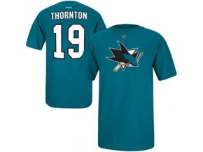 Tričko - #19 - Joe Thornton - San Jose Sharks - modré