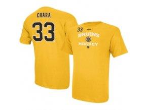 Tričko - #33 - Zdeno Chara Center Ice - Boston Bruins-žluté