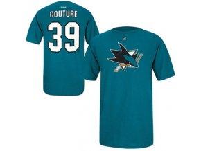 Tričko - #39 - Logan Couture - San Jose Sharks - zelené