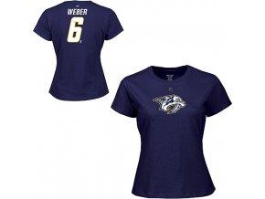 Tričko - #6 - Shea Weber - Nashville Predators - dámské