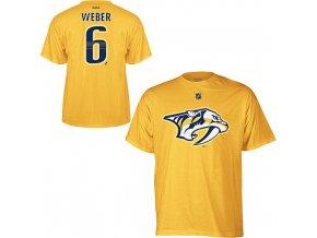 Tričko - #6 - Shea Weber - Nashville Predators - žluté - dětské