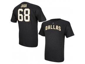 Tričko - #68 - Jaromir Jagr - Dallas Stars - černé