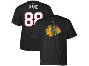 Tričko - #88 - Patrick Kane - Chicago Blackhawks - černé