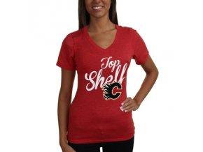 Tričko Calgary Flames Shelf Tri-Blend - dámské