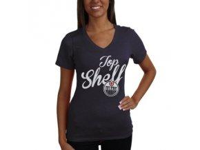 Tričko Edmonton Oilers Shelf Tri-Blend - dámské