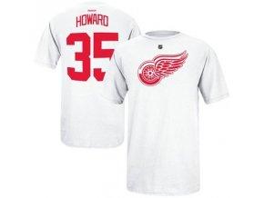 Tričko Jimmy Howard #35 Detroit Red Wings - bílé