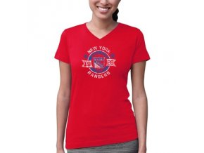 Tričko New York Rangers Circle Banner - dámské