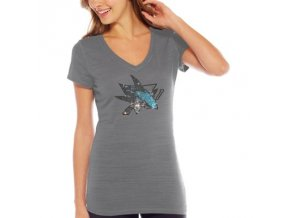 Tričko San Jose Sharks Sequin Logo - dámské