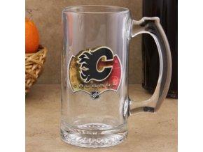 Třetinková sklenice Calgary Flames 3D Enhanced Sports