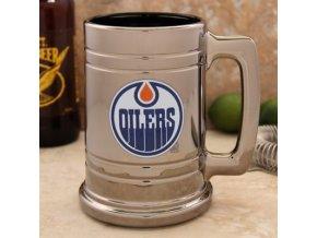 Třetinková sklenice Edmonton Oilers Chrome