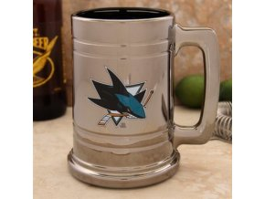 Třetinková sklenice San Jose Sharks Chrome