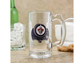 Třetinková sklenice Winnipeg Jets 3D Enhanced Sports