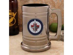 Třetinková sklenice Winnipeg Jets Chrome