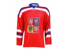 Dres Czech Ice Hockey Team CCM sublimace - červený