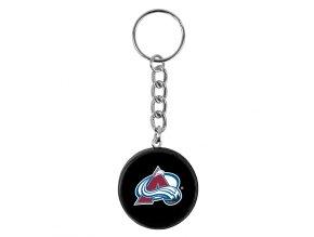 NHL přívěšek na klíče - Colorado Avalanche - minipuk