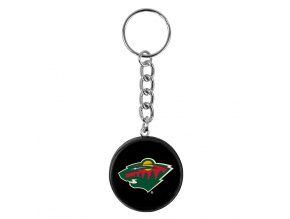 NHL přívěšek na klíče - Minnesota Wild - minipuk