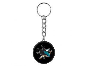 NHL přívěšek na klíče - San Jose Sharks - minipuk