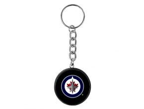 NHL přívěšek na klíče - Winnipeg Jets - minipuk