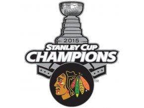Odznak CHICAGO BLACKHAWKS 2015 STANLEY CUP CHAMPIONS