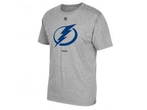Tričko - Primary Logo - Tampa Bay Lightning - šedé