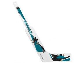 Plastiková minihokejka San Jose Sharks Sher-wood - brankářská