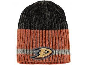Zimní čepice Anaheim Ducks Reebok Face-Off Heathered Knit Beanie