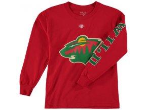 Dětské tričko Minnesota Wild Old Time Hockey Two Hit Long Sleeve