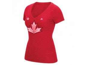 Dámské Tričko Team Canada Tri-Blend Světový Pohár 2016