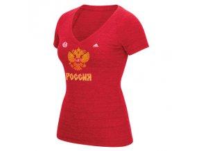 Dámské Tričko Team Russia Tri-Blend Světový Pohár 2016
