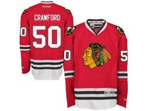 Dres Corey Crawford #50 Chicago Blackhawks Premier Jersey Home