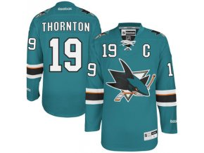 Dres Joe Thornton #19 San Jose Sharks Premier Jersey Home