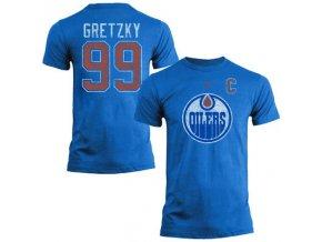 Tričko #99 Wayne Gretzky Edmonton Oilers Legenda NHL - modré