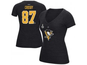 Dámské Tričko #87 Sidney Crosby Pittsburgh Penguins 2016 Eastern Conference Champions