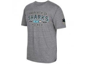 Tričko San Jose Sharks CCM Property Block Tri-Blend