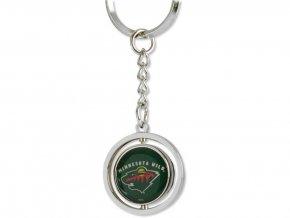 Přívěšek na klíče Minnesota Wild Puck Spinning Ring