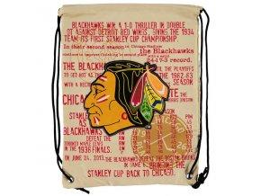 NHL vak Chicago Blackhawks Historic Canvas Drawstring