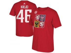 Tričko #46 David Krejčí Team Czech Republic Player Světový pohár 2016