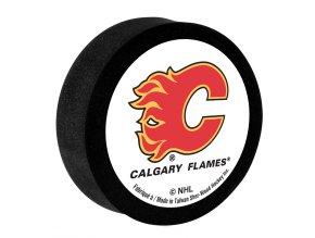 Pěnový puk Calgary Flames Sher-Wood