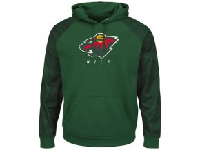 Mikina Minnesota Wild Majestic Penalty Shot Therma Base Hoodie