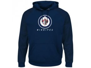 Mikina Winnipeg Jets Majestic Penalty Shot Therma Base Hoodie