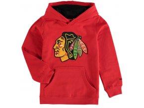 Dětská mikina Chicago Blackhawks Prime Applique Pullover Hoodie červená