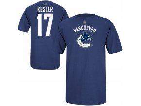 Dětské tričko Ryan Kesler Vancouver Canucks NHL Name & Number (Velikost Dětské L (11 - 12 let), Distribuce USA)