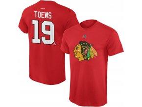Dětské tričko Jonathan Toews Chicago Blackhawks NHL Name & Number (Velikost Dětské L (11 - 12 let), Distribuce USA)