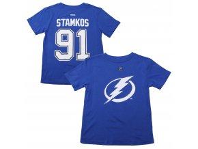 Dětské tričko Steven Stamkos Tampa Bay Lightning NHL Name & Number (Velikost 4 roky, Distribuce USA)