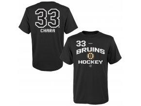 Dětské tričko Zdeno Chára Boston Bruins NHL Name & Number (Velikost Dětské L (11 - 12 let), Distribuce USA)