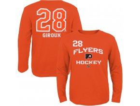 Dětské tričko Claude Giroux Philadelphia Flyers NHL Name & Number (Velikost Dětské L (11 - 12 let), Distribuce USA)