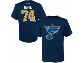 Dětské tričko T.J. Oshie St. Louis Blues NHL Name & Number (Velikost Dětské L (11 - 12 let), Distribuce USA)